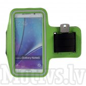 Sport Armband pouch case Size L for Samsung Note 4, S7 edge, Iphone 6 Plus, green - universāls sporta macņš