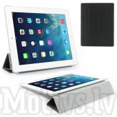Apple iPad 2 3 4 Silk Grain Folding Smart Cover Stand with wake/sleep, black - vāks