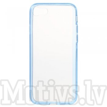 "Apple iPhone 7 4.7"" Clear Glossy Hybrid Acrilyc & TPU Case Cover, transparent blue - vāks vāciņš"