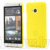 HTC One M7 801e Rubberized Shell Bumper Case Cover, yellow - aksesuārs vāks bamperis