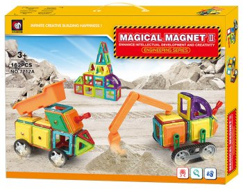 Magical Magnet Blocks Bricks Educational Building Toy 162 pcs. 7212A