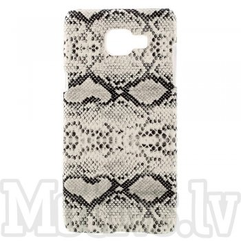 Samsung Galaxy A5 2016 SM-A510F Duos Snake Skin Leather Coated Hard Plastic Case Shell Cover, white – vāks maks
