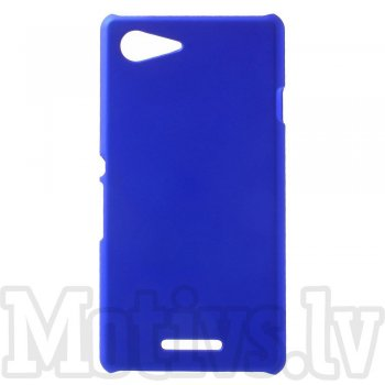 Sony Xperia E3 D2202 D2203 D2206 D2243 Dual D2212 Rubberized Hard Shell Bumper Case Cover, blue - aksesuārs vāks bamperis
