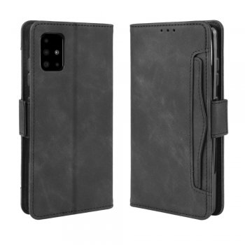 Samsung Galaxy A51 (SM-A515F) PU Leather Wallet Case Cover, Black | Vāciņš Maciņš Apvalks Grāmatiņa