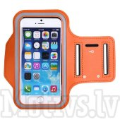 Sport Armband pouch case Size M for iPhone. Samsung, LG, Sony, Microsoft, HTC, orange - universālais sporta maks