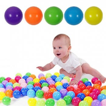 Children's Play Set of 200 Balls for Pools Playground, Multicolored