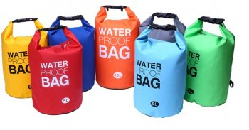 Waterproof Dry Bag Backpack for Hiking Camping Canoeing Traveling 5L, Mix Color