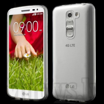 LG Optimus G2 mini D610 D618 D620 D620R D620K Clear Ultrathin TPU Gel Case Bumper Cover, white - aksesuārs vāks bamperis