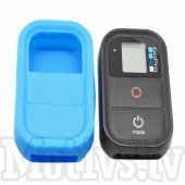 GoPro HD Hero 3+ 3 Camera Wifi Remote Control Soft Silicone Case, blue - aizsargvāks pultam