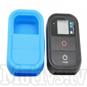 GoPro HD Hero 3+ 3 Camera Wifi Remote Control Soft Silicone Case, blue