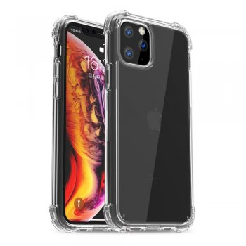 Apple iPhone 11 Pro Max - IPAKY Drop-resistant Clear TPU + PC Hybrid Case
