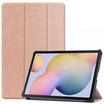 Samsung Galaxy Tab S7 (SM-T870 / T875) Tri-fold Stand Cover Case, Rose Gold