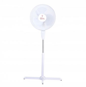 Regulējams Grīdas Ventilators 45W, Balts | Standing Pedestal Fan 3 Blades 45W, White