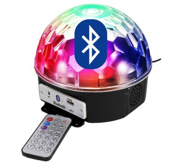 Gaismas diožu disko bumba LED Crystal Magic Ball Disco Light Bluetooth