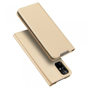 Samsung Galaxy S20+ Plus DUX DUCIS Leather Case - Gold / Золотой