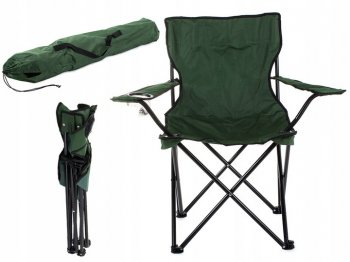 Tourism Camping Folding Chair Armchair, Green