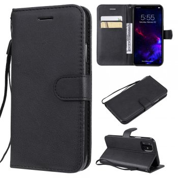 Apple iPhone 11 PU Leather Wallet Case Cover, Black | Чехол для телефона