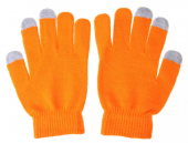 Capacitive Touch Screen Knitted Gloves, orange - cimdi skārienjūtīgam ekrānam