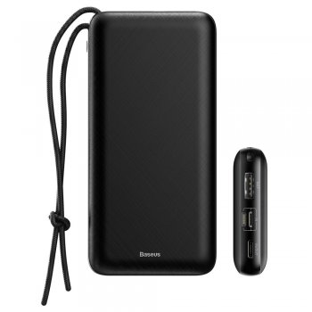 Baseus Mini Q portatīvais ārējais akumulators lādētājs 20000mAh | Power Bank for Apple iPhone Android Samsung Huawei Xiaomi Phone Tablet