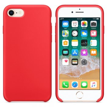 "Apple iPhone 7 / 8 / SE (2020) 4.7"" Silicone Soft Flexibe Cover, Red"