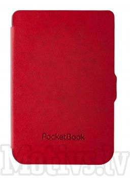 "Pocketbook 6"" Touch Lux 3 614, 615, 624, 625, 626 Original Shell Case Cover, red - sarkans vāks"