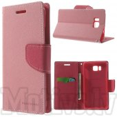 Samsung Galaxy Alpha G850F G850A S801 Mercury Goospery Fancy Diary Case Leather Cover, rose/pink – aksesuārs vāks maks