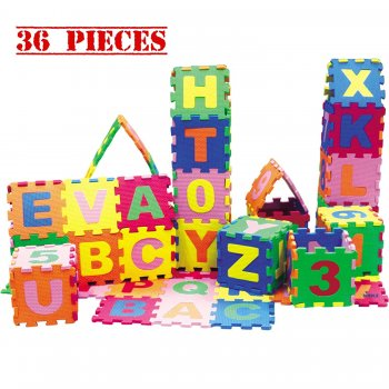 Educational Baby Puzzle Play Mat 17x17cm x 36 pcs