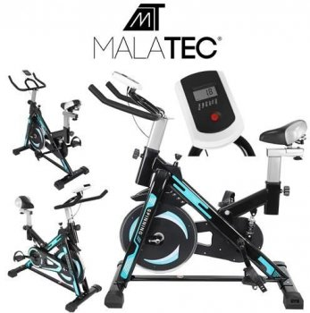 Exercise Bike Stationary Bike with Computer, Black