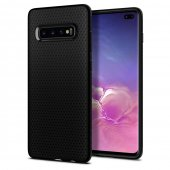 Samsung Galaxy S10 Plus SM-G975F Spigen Liquid Air TPU Gel Case Bumper Cover, black - vāks bamperis