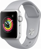 Apple Watch Series 3 GPS 38mm Silver Alu White Sport Band
