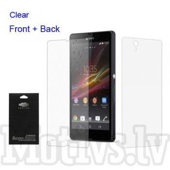 Screen Protector Front and Back for Sony Xperia Z C6602 C6603 L36h Yuga, clear - aizsargplēves, priekša un aizmugure