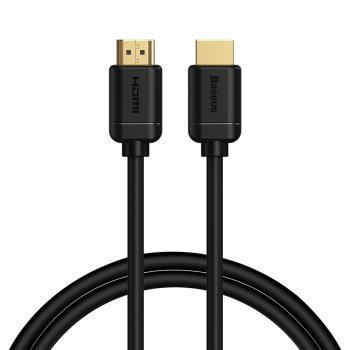Baseus HDMI to HDMI 2.0 Video Cable 4K 60Hz 3D HDR 18Gbps, 1m, Black | Audio Video Pārraides Kabelis