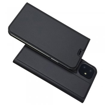 Apple iPhone 11 Magnetic Adsorption Leather Case with Card Slot, Black | Чехол для телефона