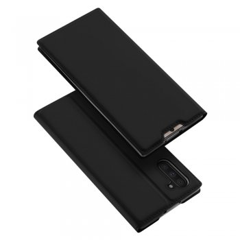 Maciņš vaciņš apvalks priekš Samsung Galaxy Note 10 (SM-N970F) | DUX DUCIS PU Leather Case – Black