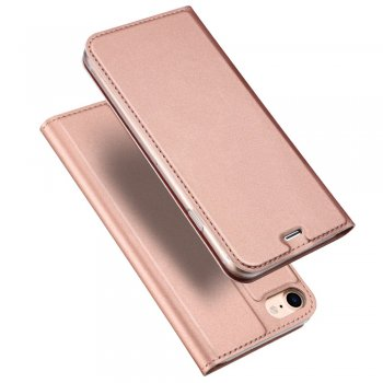 "Apple iPhone 8 / 7 / SE (2020) 4.7"" DUX DUCIS Skin Pro Series Leather Case Cover, Rose Gold"