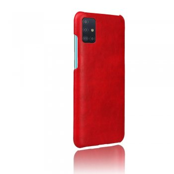 Samsung Galaxy A51 (SM-A515F) PU Leather Coated Plastic Case Cover - Red | Обложка бампер