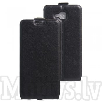 Huawei Honor 5c / 7 Lite Crazy Horse Vertical Flip Leather Card Slot Case, black - maks maciņš vāks vāciņš
