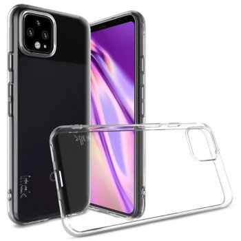 Google Pixel 4 IMAK UX-5 Series TPU Phone Case Cover - Transparent | Vāciņš Bamperis Maks Apvalks