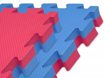 Puzzle Mat for Yoga Fitness Gym 100cm x 100cm x 2cm Red / Blue