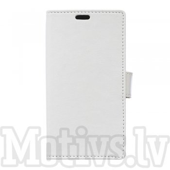 Sony Xperia X F5121 Dual F5122 Crazy Horse Leather Wallet Cover - white