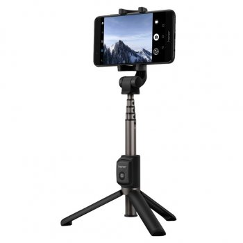 Huawei Honor Saliekams Selfiju Kāts Nūja + Tripods ar Bluetooth, Melns | Selfie Stick + Tripod with Bluetooth