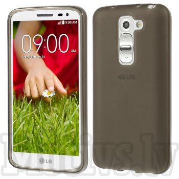 LG Optimus G2 mini D610 D618 D620 D620R D620K TPU Gel Case Bumper Cover, grey - aksesuārs vāks bamperis