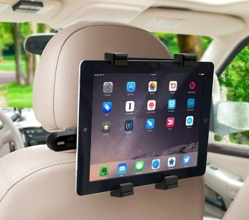 "Planšetdatora automašīnas turētājs pie galvas balstiem 7-8"" 9.7"" 10.1"" 12.2"" 