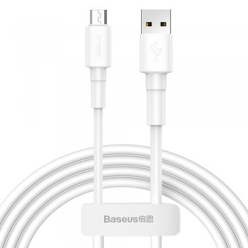 Baseus Micro USB зарядный кабель 2.4A 1m, Белый | USB to Micro USB Charger Cable Braided Wire