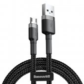 Baseus Cafule Cable Nylon Braided Wire USB / micro USB QC3.0 2.4A 0,5M, black-grey | Lādētājvads