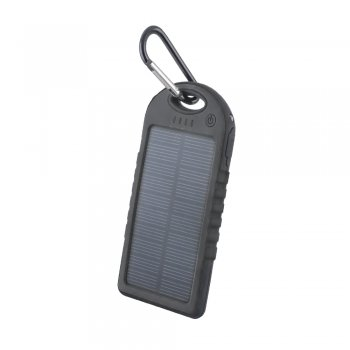 Setty solar power bank 5000 mAh black - ārējais akumulators/lādētājs