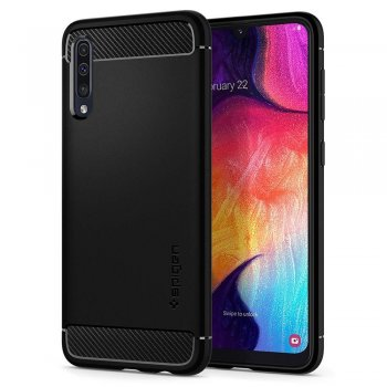 Samsung Galaxy A50 2019 (SM-A505F) Spigen Rugged Armor Cover, black