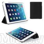 "Apple iPad Air 5 9.7"" Tri-Fold Case Cover Stand, black - vāks maks soma"