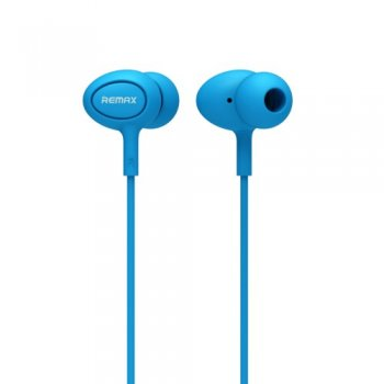 Austiņas ar mikrofonu - Remax RM-515 In-ear Headphones with microphone, light blue