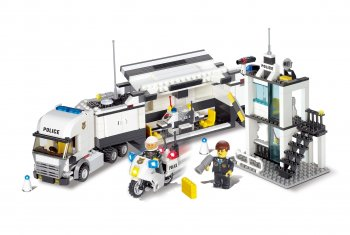 (Blocki constructor) Mobile police truck and police station 511pcs.